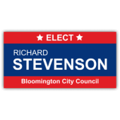 Richard Stevenson For City Council Vinyl Banner