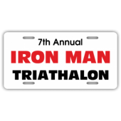 Iron Man Triathalon License Plate