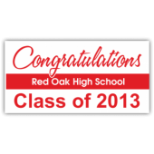 Congratulations Red Oak High School Magnetic Sign - Magnetic Sign