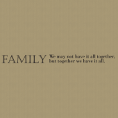 Family 237 Wall Lettering