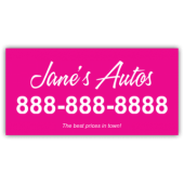 Jane's Autos Magnetic Sign - Magnetic Sign