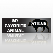 Steak 07 Bumper Sticker