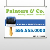 Blue Paint Brush 305 Hanging Banner