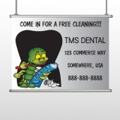 Brushing Germs 502 Hanging Banner