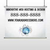 Business Global 438 Hanging Banner