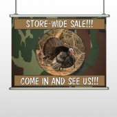 Hunt Turkey 409 Hanging Banner