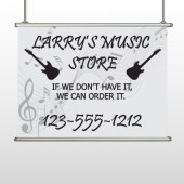 Silhouette Guitar 371 Hanging Banner