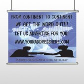Map Silhouette 433 Hanging Banner