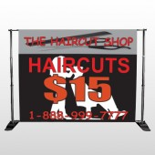 Haircut Scissor 644 Pocket Banner Stand
