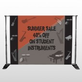 Larry Music Store 372 Pocket Banner Stand