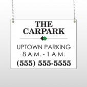 Car Park 122 Window Sign