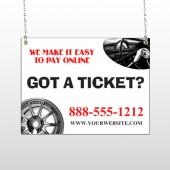 Steering Wheel 154 Window Sign