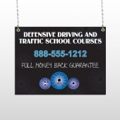 Traffic School 152 Window Sign