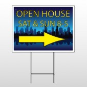 Open House Night City 707 Wire Frame Sign
