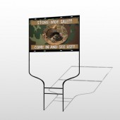 Hunt Turkey 409 Round Rod Sign
