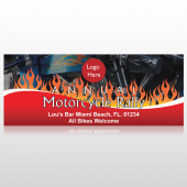 Motorcycle Flame 107 Banner
