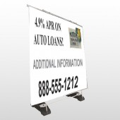 Auto Loan 155 Exterior Pocket Banner Stand