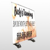Tanning 298 Exterior Pocket Banner Stand