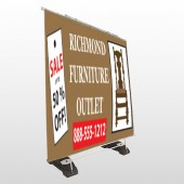 Outlet Chair 527 Exterior Pocket Banner Stand