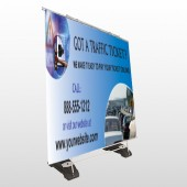 Traffic Cars 151 Exterior Pocket Banner Stand