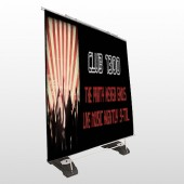 Night Club 523 Exterior Pocket Banner Stand