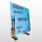 Pie Graph Arrows 05 Exterior Pocket Banner Stand