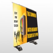 Television 525 Exterior Pocket Banner Stand