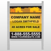 "Yellow Land & Housing 861 48""H x 48""W Site Sign"
