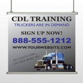 CDL Training 155 Hanging Banner
