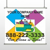 Cleaning Supplies 451 Hanging Banner