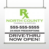 RX North County 105 Hanging Banner