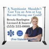 Nutristitionist 46 Pocket Banner Stand