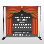 Theatre Curtains 521 Pocket Banner Stand