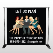 Party Planning 519 Pocket Banner Stand