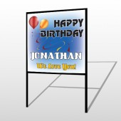 Red Orange B-Day 186 H- Frame Sign