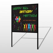 Silhouette Party 187 H-Frame Sign