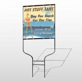 Hot Beach Tan 299 Round Rod Sign