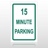 15 Min Parking 10001 Parking Lot Sign