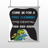 Brushing Germ 502 Hanging Banner