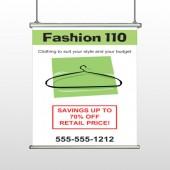 Fashion Hanger 526 Hanging Banner