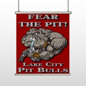 Fear Dog Mascot 51 Hanging Banner