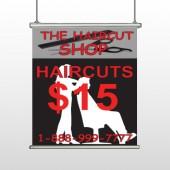 Haircut Scissor 644 Hanging Banner