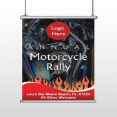 Motorcycle Flame 107 Hanging Banner