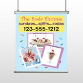 Ice Cream 374 Hanging Banner