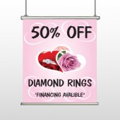 Pink Rose Hidden Ring 399 Hanging Banner
