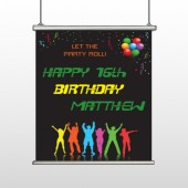 Silhouette Party 187 Hanging Banner