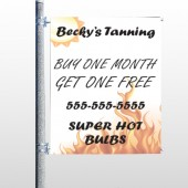Tanning 298 Pole Banner