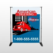 American Truck 295 Pocket Banner Stand