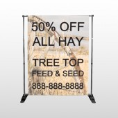 Wood Wheel 413 Pocket Banner Stand