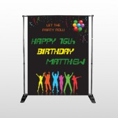 Silhouette Party 187 Pocket Banner Stand